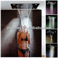 600*800mm ceiling recessed mounted led square rain shower head
