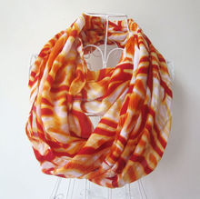 Hot Sale Fashional Silk and Polyester Scarf From Real Scarf Factory