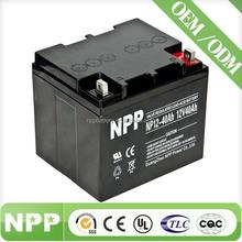 12V 40AH China Supplier VRLA MF Solar UPS Battery Operated Toy