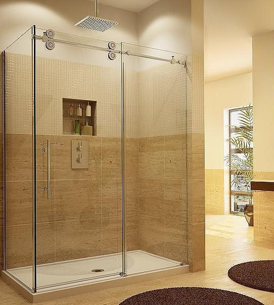2015 New Bathroom Design Guardian Sliding Tempered Glass Shower Door