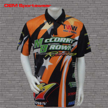 Sublimated Top Design Motocross Shirt Custom