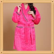 Pink Shawl Terry / Velour Women's Bathrobe