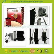 Spring Pop Up Display Stand with round trolley case