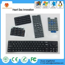 Hot remote Application custom made silicone keypad cap rubber button