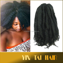 2015 New Products African Hair Braiding Synthetic Afro Kinky Hair Weave Synthetic Marley Hair Braid