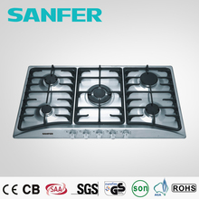 5 burner stainless steel cooktop restaurant equipment stainless steel gas stove