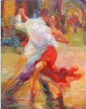abstract paintings cachucha dancing couples home goods wall art pop art painting