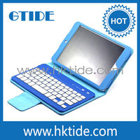 Folding Leather Case with Bluetooth Keyboard for iPad Mini/Android Tablet Wireless Keyboard