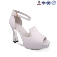 Woman fashion brand shoes factory designer pink peep to shoe leather sexy high heels dress shoes sandal