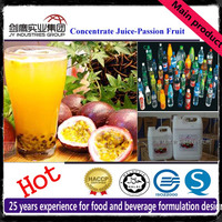 20 Times Concentrated Passion Fruit Juice Beverage Syrup Raw Material Ingredients