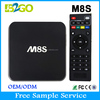 m8s smart tv box android Quad Core 2gb 8gb amlogic s812 internet tv box android