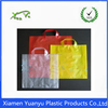 Customized shaped handle printing soft loop plastic bag for packaging