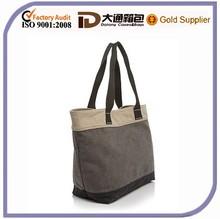 Casual Plain Canvas Log Tote Bag for Shopper