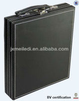 New leather PU briefcase attache case aluminum tool case with different style MLD-AC306
