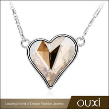 OUXI wholesale gold chain fashion crystal chain pendant necklace charms