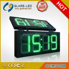high quality outdoor double sided Led Display For Time Date Temperature
