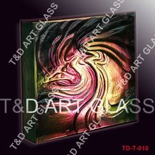 Textured colored glass brick