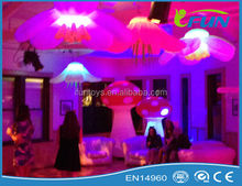 event led decoration /party inflatable decoration led light/inflatable led hanging flower for party