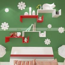 S Shape Wall Shelf For Decoration DIY Wall Shelf Set 2