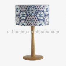 Curvy White Wooden Table Lamp Pair Artistic Table Lamp