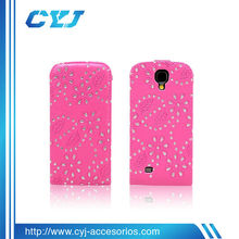 New design super fashion luxury bling bling diamond Flip cover case for Samsung Galaxy S4 i9500