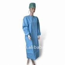 Latex free disposable lab coats/ nonwoven robe