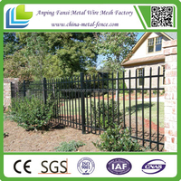 cheap polyester painting model wrought iron yard fencing panels