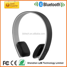 High quality cozy protein leather bluetooth stereo headphone, Music bluetooth earphone with leather