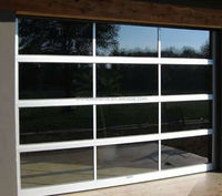 remote control 9x8 aluminum transparent insulated glass garage door price with CE certificate