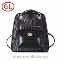 New women shoulder bags backpack shoulder bag two in one waterproof hiking backpacks black
