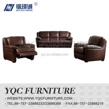 Y1003# hot sale high quality popular thick leather sectional recliner sofa