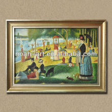 Sunday Afternoon on the Island of La Grande Jatte reproduction art of Georges Seurat