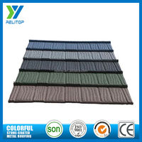 Composite al-zinc colorful stone chips coated metal steel roofing tiles