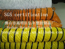large diameter and flame retardant pvc material flexible round duct hose