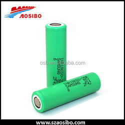 On sale samsung 25r green battery, samsung 3.7v li-ion battery 2500mah, inr18650-25r 35amp with cheaper shipping