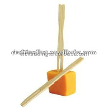 2015 new disposable cocktail mini factory natural bamboo fruit forks for party