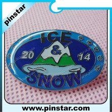 cheap custom sports button badge with ice snow