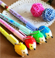 300pcs Black Refill Hedgehog Gel Ink Pen Mix Styles Pendant Pens Stationery Office/School Supplies DHL Freeshipping