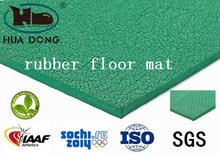 unportable green basketball & tennis court flooring