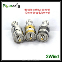 new product double airflow control affordable atomizer 2wind best cigarettes smoke