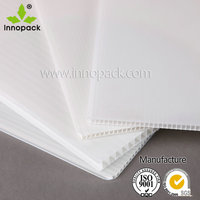 White opaque PP plastic hollow sheet for poster board