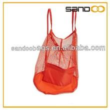 Promotion Orange Mesh Backpack Drawstring