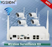 Wireless Home Security Camera System HD 720P 4CH Wifi NVR Kits CCTV Kits