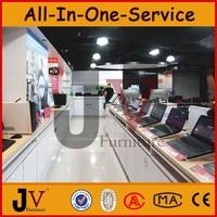 Retail computer shop interior design with digital furniture