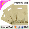 Yasonpack cheap plastic shopping bags die cut plastic shopping bag name brand shopping bags
