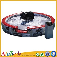 funny adult's and kid's inflatable mechanical bull rides game