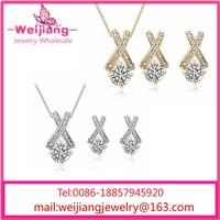 Elegant Design for Wedding Party Platinum Plated AAA+ Zircon Luxury jewelry set