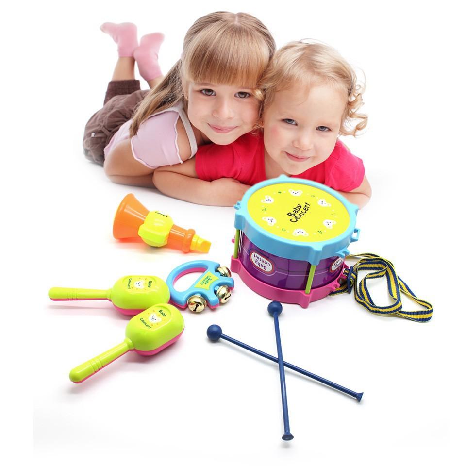 2SET ролл музыкальные инструменты группы барабанную дети детей игрушка подарочный набор новой игрушки хобби Классические игрушки шум чайник