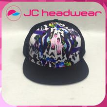 Custom black embroidery flat snapback hats 6 panel printing snapback
