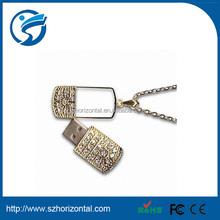 Diamond jewelry necklace USB flash drive